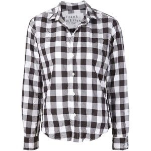 Frank & Eileen black and white plaid button down